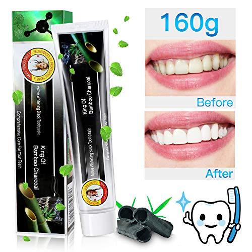 Aktivkohle Zahnpasta 160g Bamboo Charcoal Whitening Zahnpasta MayBeau Natürliche Zahnaufhellung Ohne Fluorid Zahnreinigung BleachingTeeth Whitening Toothpaste Mint Flavour