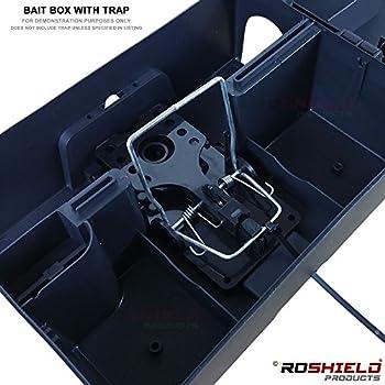 1 X Roshield External Rat Snap Trap Control Box - Green No Poison Professional Solution 1