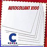 100 feuilles A4 papier adhésif blanc; Étiquettes 210x297mm - autocollant