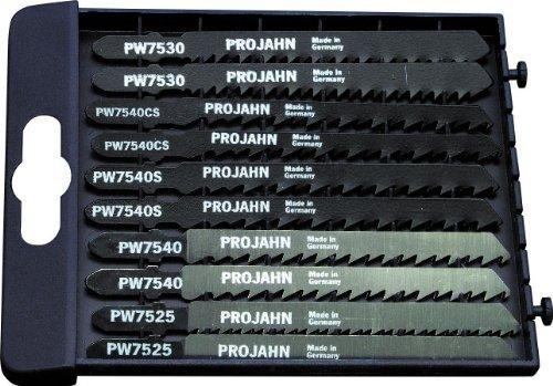 Projahn Pro 63001 Lot de 10 lames à bois pour scie sauteuse