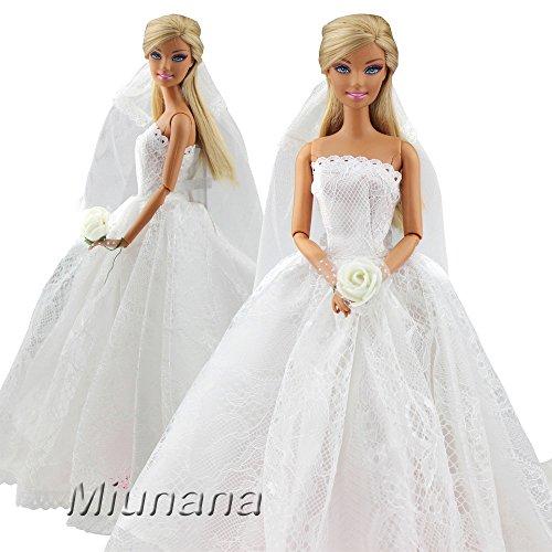 Miunana 1 Vestido de Novia con 1 Velo Vestir Ropa Boda Accesorios ...