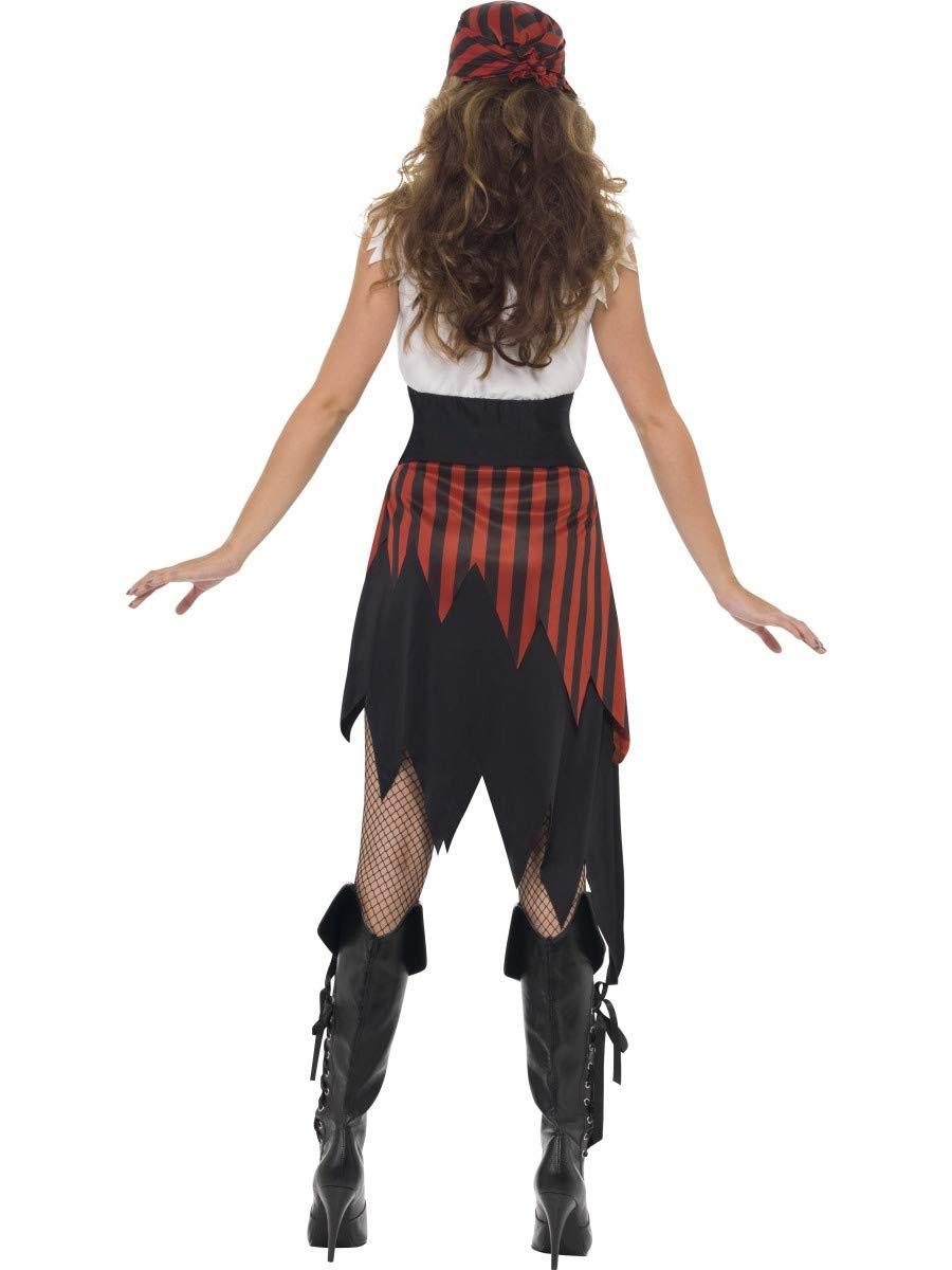 Smiffys Costume da donna pirata, con abito e copricapo, Modelli/Colori Assortiti, 1 Pezzo 2 spesavip