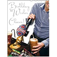 Greeting Card (JJ1855) - Male Birthday - Cheers! - Pulling A Pint