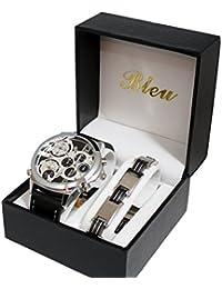 Ernest ch50 - Reloj para hombres, correa de metal