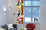 Une mesure de croissance Super Mario Bros Amovible Stickers muraux Decal Décoration pour la maison des enfants