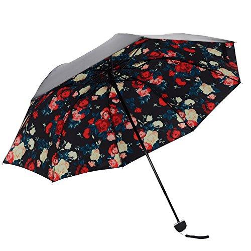 Honeystore Regenschirm, Automatik Taschenschirm Sonnnenschirm mit 98 cm Durchmesser Klassischen Mehrfarbig