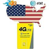 Carte SIM USA prépayée - 3 Go en 4G - Appels & SMS illimités vers le monde - 30 Jours