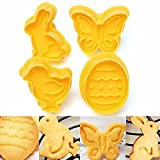 Bazaar 4Osterbackformen, Vogel, Schmetterling, Ei, Kaninchen, Fondant, Kuchen, Kekse, Ausstechformen
