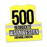 Korntex Warnwesten Sicherheitswesten bedrucken mit eigenem Logo 1farbig 500 Stück