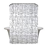 HM&DX Wasserdichter duschvorhang mit Ringe, Antischimmel Singt Badvorhänge Jacquard für Bad Hotel schlafsaal-Weiß 180x240cm(71x94inch)