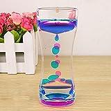 Doble Colores Gotas de aceite reloj de arena líquido flotante movimiento burbujas temporizador escritorio Decors, vidrio, Morado, talla única