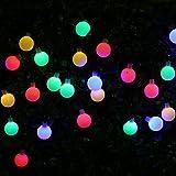 led beleuchtung, VSOAIR 50 LEDs 23ft / 7M Wasserdicht Farbwechsel Kugel-Kugel-Lichterketten für Outdoor-Garten (Multi-colored)