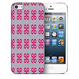 Snoogg Pink Cross Printed Protective Phone Back Case Cover For Apple Iphone 5 / 5S