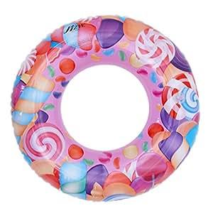 Lukis Baby Kleinkind Schwimmsitz Schwimmhilfe Aufblasbarer Schwimmring Kinderboot Rosa Außendurchmesser 60cm
