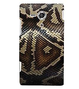 Printvisa Elegant Snake Skin Background Back Case Cover for Sony Xperia SP::Sony Xperia SP M35h