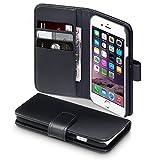 Terrapin Echt Leder Brieftasche Case Hülle mit Kartenfächer und Bargeld für iPhone 6S / iPhone 6 Hülle Schwarz