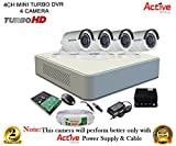 #6: Hikvision CCTV Security System With Turbo DS-7104HGHI-F1 Mini 4CH DVR + Hikvision DS-2CE16COT-IRP Bullet Camera 4Pcs + 1TB HDD + Active Cable + Active Power Supply