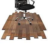 etm Bodenschutzmatte 120x150cm Hartboden | Extra transparent und Rutschfest | optimales Gleitverhalten für Stuhlrollen | Weitere Größen mit und ohne Lippe wählbar