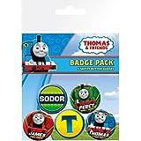 El Tren Thomas Y Sus Amigos - High Velocity, 4 X 25mm & 2 X 32mm Chapas Set De Chapas (15 x 10cm)