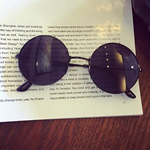 CYCY Weiche Schwester Wind Runde Rahmen Farbfilm Mädchen Sonnenbrille Licht Runde dünne Seite Retro Sonnenbrille Sonnenschirm Brille schwarzer Rahmen schwarzer Film, schwarzer Rahmen schwarzer Film