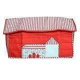#10: Kuber Industries Stylish Hut Design Sewing Machine Cover (Red) - KI3499
