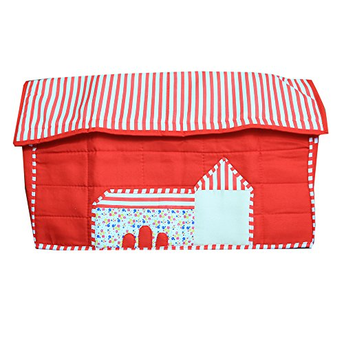 Kuber Industries Stylish Hut Design Sewing Machine Cover (Red) - KI3499