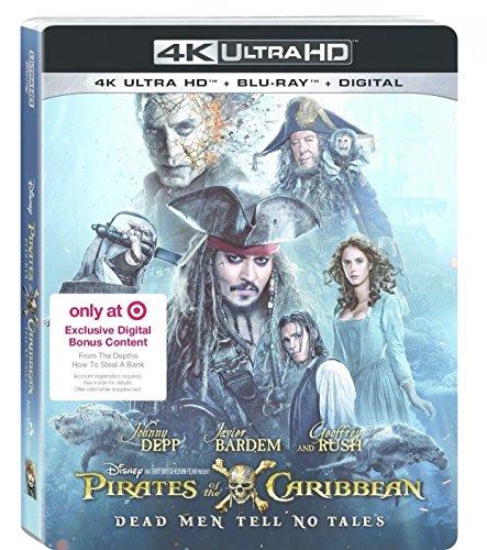 PIRATES OF THE CARIBBEAN Dead Men Tell No Tales 4K Ultra HD+Blu-ray+Digital Combo set PLUS Target Excluisve Digital Bonus Conten