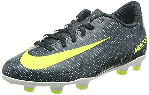 Nike Unisex-Kinder JR Mercurial Vortex Iii CR 7 FG Fußballschuhe, Schwarz (Seaweed/Volt/Hasta/White/Mtlc Silver), 38.5