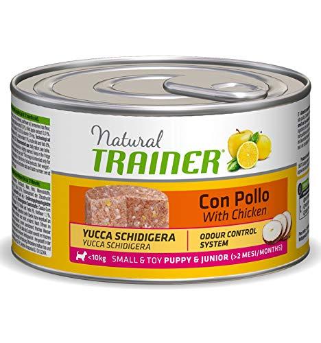 Umido per cuccioli Natural Trainer Puppy&Junior Pollo - 150 gr X 24 - Promo quantità