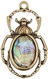 Solid Oak Roble macizo Metal Steampunk colgante Escarabajo con Papua carcasa, acrílico, multicolor, 3piezas