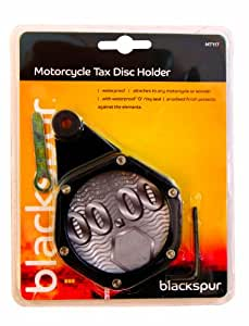 Motorcycle Tax Disc Holder, Waterproof, Attaches To Any Motorbike Or Scooter