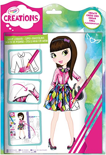 Crayola creations sticker look book fashion design Crayola fashion design studio reviews