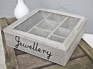 sass belle schmuckbox holz braun schmuckkiste box schmuck glasdeckel deckel k che. Black Bedroom Furniture Sets. Home Design Ideas