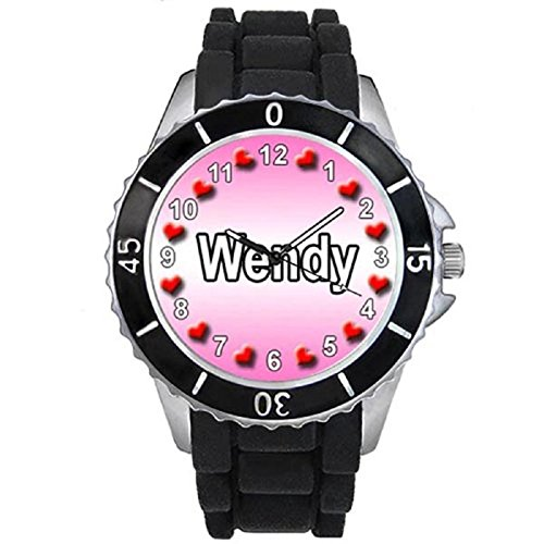 name-wendy-black-jelly-silicone-band-ladies-sports-wrist-watch