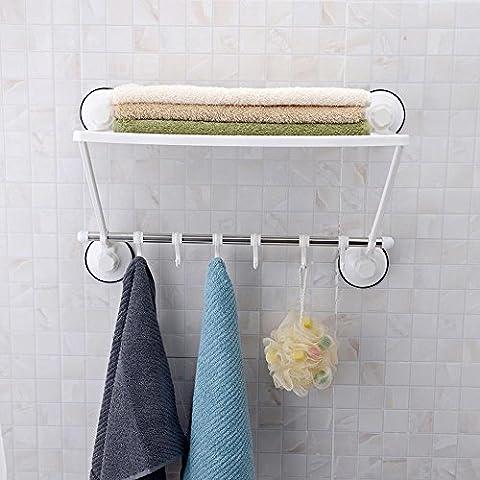 ssby Elegante semplicità, Porta asciugamani da bagno cupule potente, Gancio singolo in acciaio inox, porta asciugamani