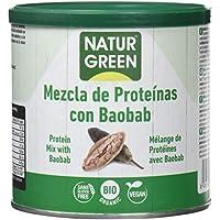 NaturGreen Mezcla de concentrado de proteína ecológica (Baobab) - Pack de 2 unidades de 250 gr