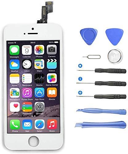 ayutoy screen schermo per iphone 5s/se display lcd touch display per iphone 5s/se schermo (4.0 pollici) vetro schermo kit smontaggio trasformazione completo di ricambio utensili inclusi (bianco)