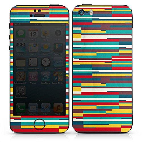 Apple iPhone SE Case Skin Sticker aus Vinyl-Folie Aufkleber Streifen Bunt Muster DesignSkins® glänzend