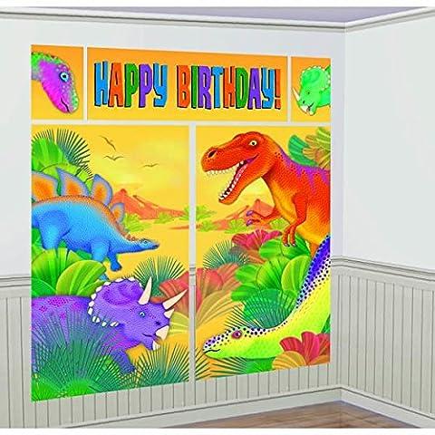 Amscan Prehistoric Party Scene Setter Wanddeko, mehrfarbig