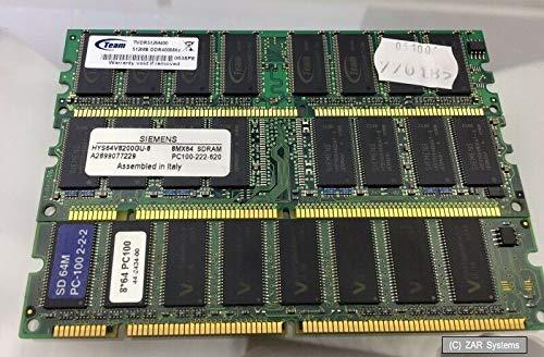 3X RAM Speicher Module: 2X 64MB SD-RAM PC-100 + 1x 512MB DDR 400Mhz, Bulk -