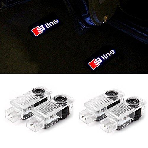 4 Stück Auto Türbeleuchtung, NOTENS Autotür Logo Projektion Licht 3D Laser Licht Willkommen Licht LEd Door Shadow Lampe (4 PCS)