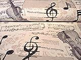 Music Notes Designer Vorhang Polster Baumwolle Stoff