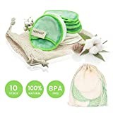 Tampons Démaquillants En Tissu En Bambou | Lingette Démaquillante Lavable | Réutilisable démaquillants bambou |Tous types de peau |Microfibre Disque démaquillant lavable bio |Demaquillant visage