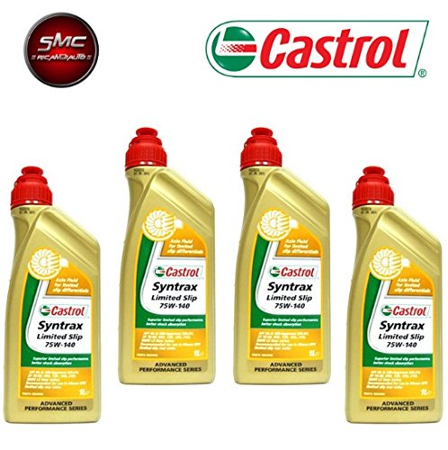 ricambi auto smc Olio DIFFERENZIALI Originale CASTROL SYNTRAX Limited Slip 75W140 LT. 4