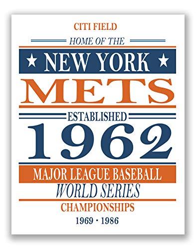 TNT Lines of Distinction New York Mets-Vintage MLB Baseball Poster-Sportandenken Fan Art 11x 14Matt Foto Print -