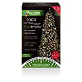 Premier Decorations - 1000 Multi Action TreeBrights LED Lights with Timer - Warm White & White