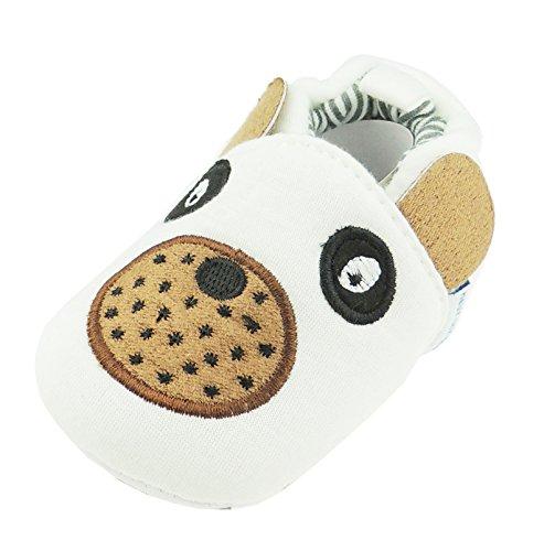 Animal Face Hausschuhe Beute Kinderwagen Schuhe Weiß Puppy Hund ()