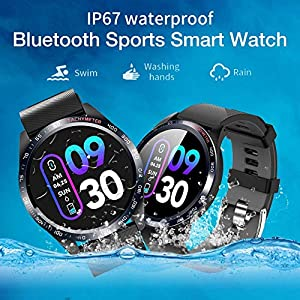bulrusely Smart Watch Bluetooth 5.0 Kopfhörer Touchscreen Farbbildschirm Sport Aktivität Fitness Tracker Uhren Herzfrequenz Blutdrucküberwachung Männer Frauen Smart Armband Für IOS Android