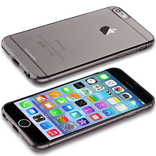 iPhone 6 Plus Hülle - Pasonomi® [Perfect Fit] Ultra Slim TPU Silikon Tasche Hülle Schutzhülle Soft Cover Gel Case für iPhone 6 Plus 5.5 zoll (iPhone 6 Plus 5.5 zoll, Transparent klar) Transparent Schwarz.