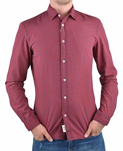 Tom Tailor Denim Vichy Checked Shirt Small-Kent, Chemise Casual Homme Rouge (dry flower red 4269)